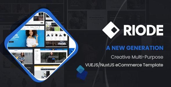 Riode - VueJS/NuxtJS eCommerce Template - Fashion Retail