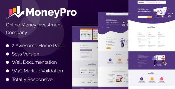 MoneyPro - Hyip Investment Template