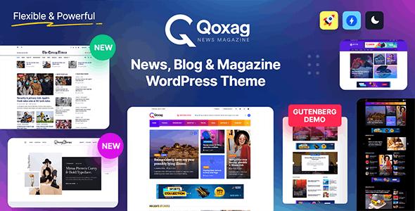 Qoxag v1.0.9 – WordPress News Magazine Theme