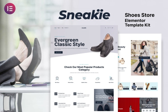 Sneakie - Shoes Store WooCommerce Elementor Template Kit - Shopping & eCommerce Elementor