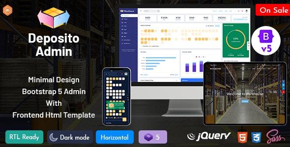 Deposito - Warehouse Responsive Bootstrap 5 Admin Dashboard - Admin Templates Site Templates