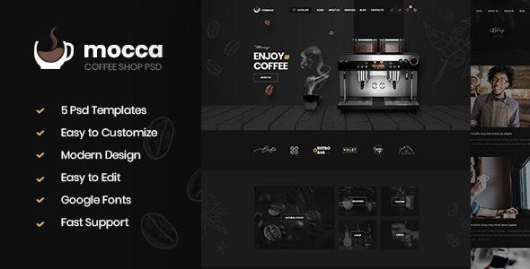 Mocca - Coffee Shop PSD Template - Business Corporate