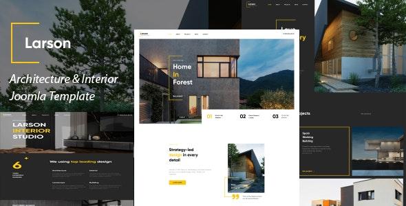 Larson - Architecture & Interior Joomla 4 Template - Business Corporate