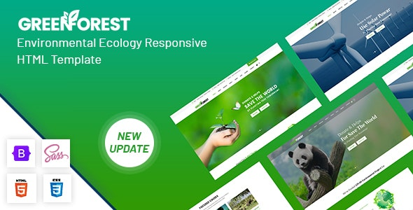GreenForest - Environmental Ecology Responsive Template - Environmental Nonprofit