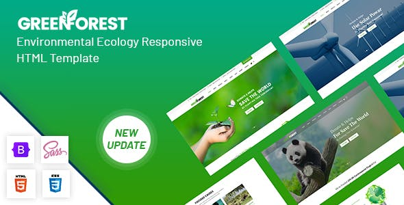GreenForest - Environmental Ecology Responsive Template
