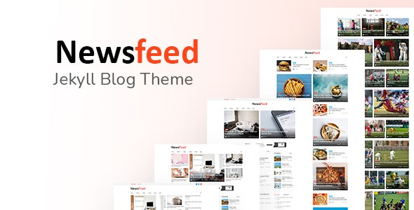 Newsfeed - Responsive News Magazine Bootstrap 5 Jekyll Theme - Jekyll Static Site Generators