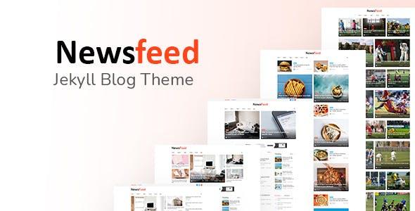 Newsfeed - Responsive News Magazine Bootstrap 5 Jekyll Theme