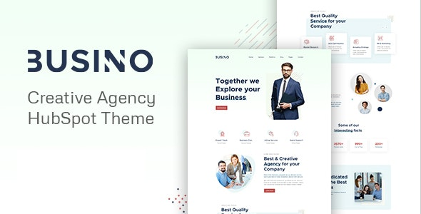 Busino - Creative Agency HubSpot theme - Creative HubSpot CMS Hub