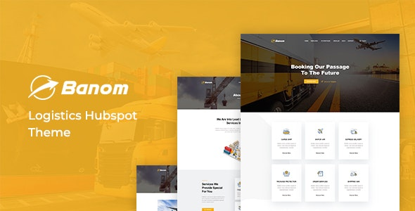 Banom - Logistic HubSpot Theme - Corporate HubSpot CMS Hub