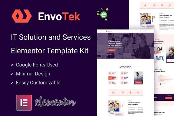 EnvoTek - IT Solution & Services Elementor Template Kit - Technology & Apps Elementor