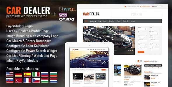 Car Dealer Automotive WordPress Theme – Responsive - Corporate WordPress