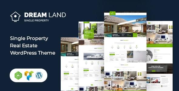 DREAM LAND- Single Property Real Estate WordPress Theme - Real Estate WordPress