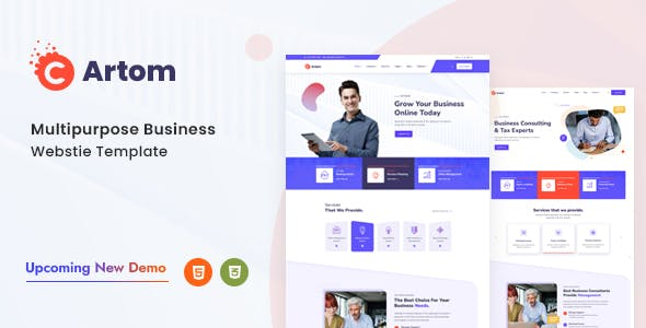 Artom - Technology & knowledge base HTML Template