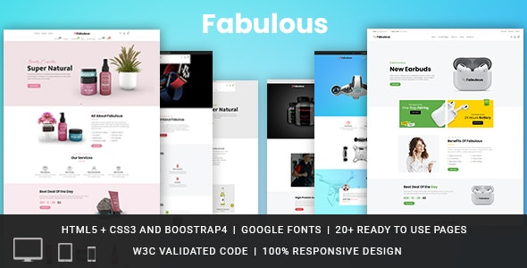 Fabulous Responsive HTML Template - Retail Site Templates