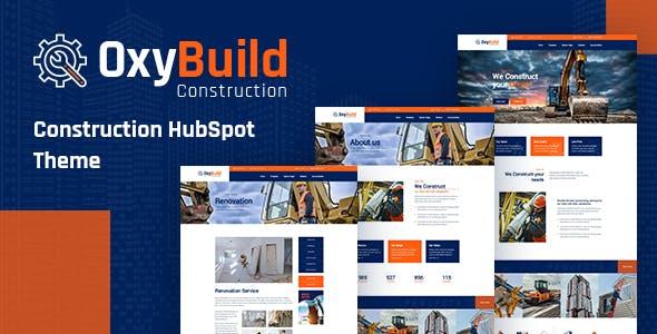 OxyBuild - Construction HubSpot Theme