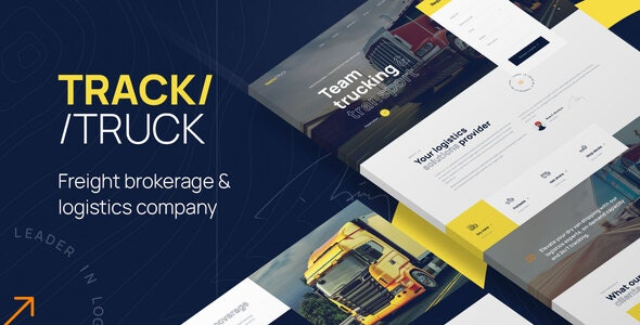 TrackTruck - Freight Brokerage and Logistics Company WordPress theme - Business Corporate