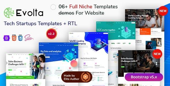 Evolta - Tech & Business Startup HTML Template