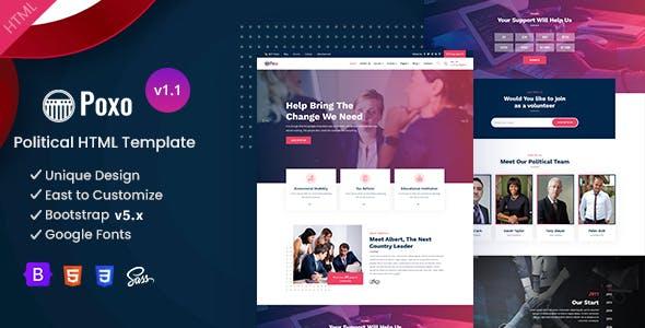 Poxo - Political & Nonprofit Campaign HTML Template