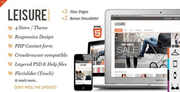 Leisure - Responsive E-commerce HTML5 Template - Fashion Retail