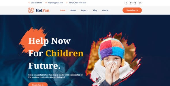 HelFan - Charity and Nonprofit Elementor Template Kit