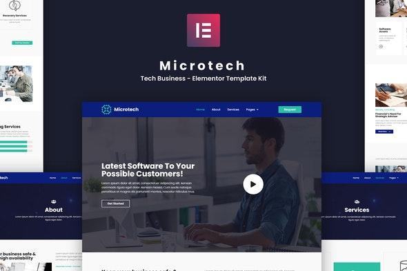 Microtech - Tech Business Elementor Template Kit - Business & Services Elementor