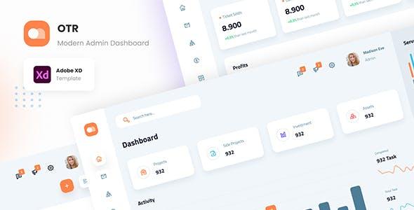 OTR - Clean Admin Dashboard XD Template