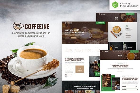 Coffeeine – Coffee Shop & Cafe Elementor Template Kit - Food & Drink Elementor