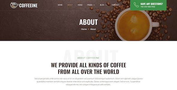 Coffeeine – Coffee Shop & Cafe Elementor Template Kit