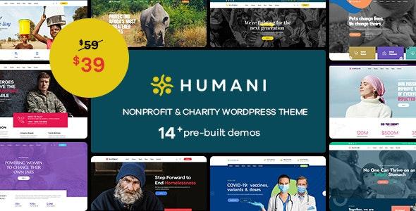 Humani - Nonprofit & Charity WordPress Theme - Charity Nonprofit