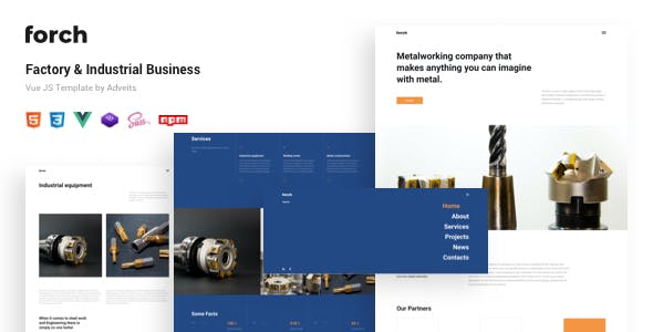 Forch - Factory & Industrial Business Vue JS Template