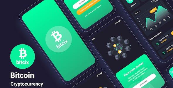 Bitcix – Bitcoin Cryptocurrency Figma Template