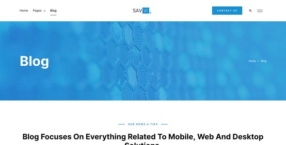 Savvi - Software Developer Company Elementor Template Kit