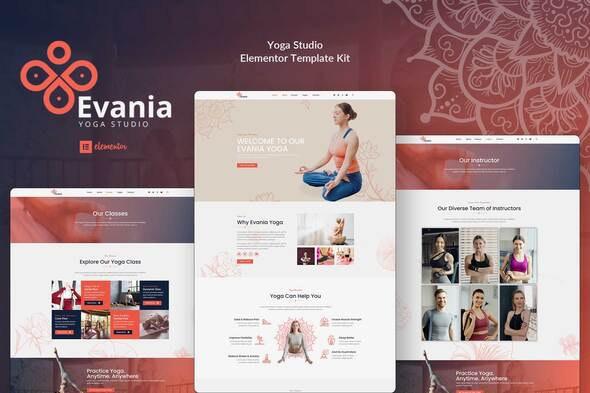 Evania - Yoga Studio Elementor Template Kit - Sport & Fitness Elementor