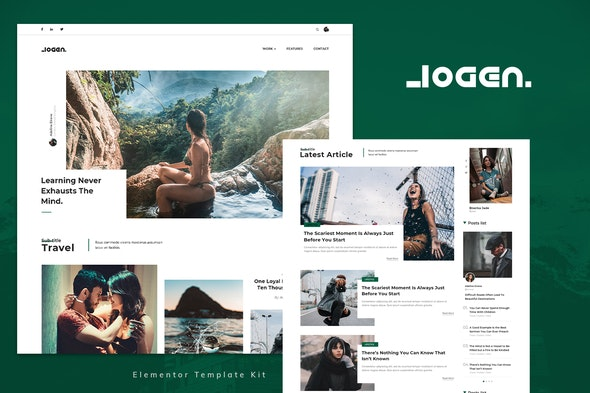 Logen - Lifestyle Blog Elementor Template Kit - News & Magazines Elementor