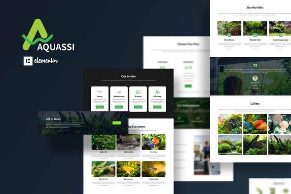 Aquassi - Aquascape Shop Elementor Template Kit - Business & Services Elementor