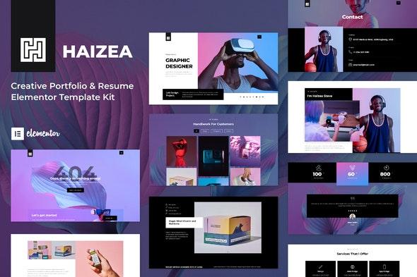 Haizea - Creative Portfolio & Resume Elementor Template Kit - Personal & CV Elementor