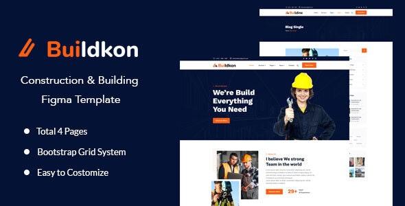 Buildkon - Construction & Building Figma Template - Business Corporate