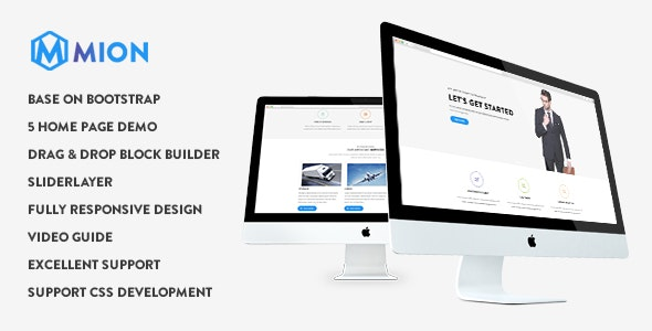 Mion - Responsive Business Service Drupal 9 Theme - Business Corporate
