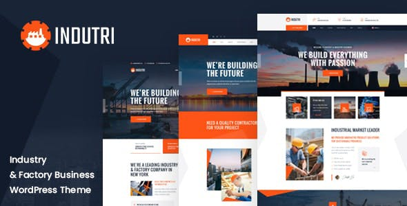 Indutri – Factory & Industrial WordPress Theme