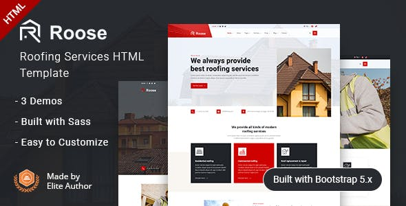 Roose - Roofing Services HTML Template