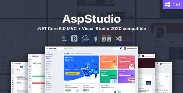 AspStudio - ASP.NET Core 5.0 MVC Bootstrap 5 Admin Template