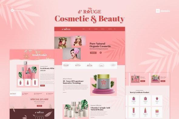 Drouge - Cosmetic Elementor Template Kit - Fashion & Beauty Elementor