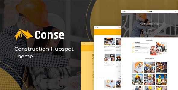 Conse - Building HubSpot Theme - Corporate HubSpot CMS Hub