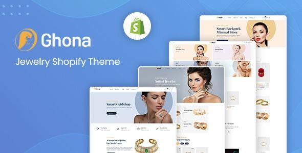 Ghona – Jewelry Shopify Theme - Fashion Shopify