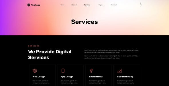 Techoes - Tech & Software Company Elementor Template kit