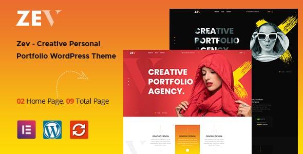 Zev – Creative Personal Portfolio WordPress Theme