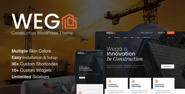 Wega - Construction WordPress Theme - Business Corporate