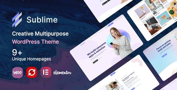 Sublime | Creative Multipurpose WordPress Theme - Creative WordPress