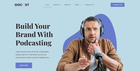 Gocast - Podcast & Digital Agency Template Kit