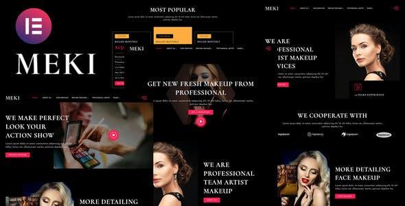 Meki - Artist Makeup Business Services Elementor Template Kit